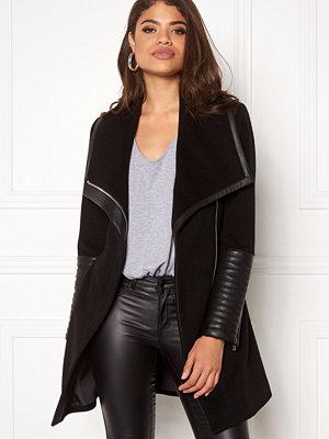 ROCKANDBLUE Funnel Coat Clean Wool Black
