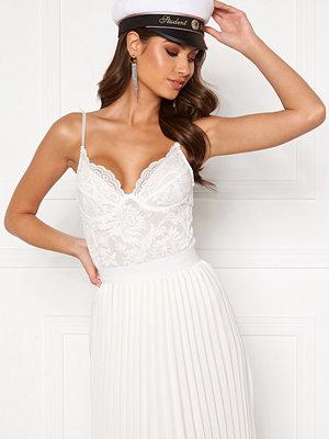 Bubbleroom Felixa pleated skirt White