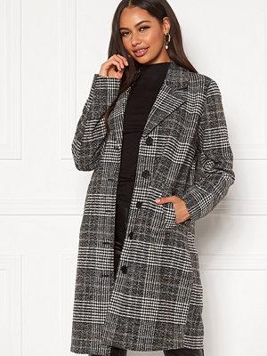 Happy Holly Corinne checked coat Checked / Black