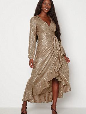 Guess New Baja Dress P16X Shiny Dots Gold