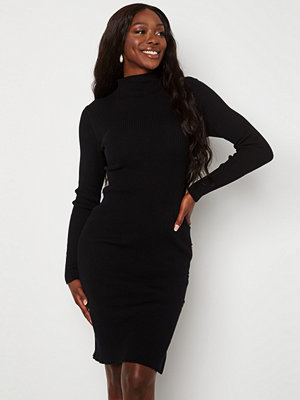 Vila Solto Knit Button L/S Dress Black