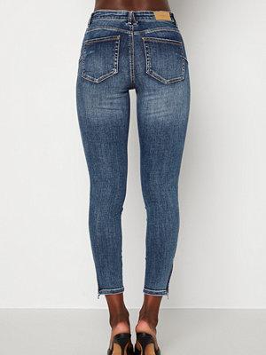 Vero Moda Tilde Ankle Zip Medium Blue Denim