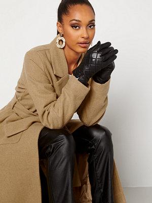 Handskar & vantar - Bubbleroom Velma quilted leather gloves Black