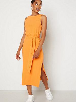 Bubbleroom Leonie rib dress Orange