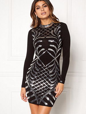 Chiara Forthi Lavinia Sequin Dress Black / Silver