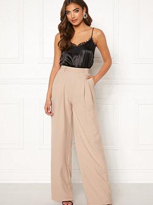 Make Way byxor Bea wide trousers Beige