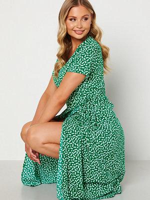 Object Collectors Item Elise S/S Long Wrap Dress Jelly Bean AOP Ditsy