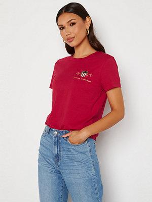Gant Archive Shield SS T- Shirt 626 Raspberry red