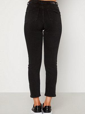 Bubbleroom Lana high waist jeans Black denim