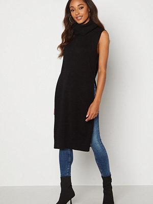 Vila Ril Long S/L Knit Vest Black