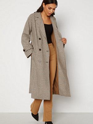 Object Collectors Item Keily L/S Coat Sepia Check