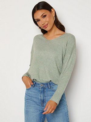 Only Rica Life L/S V-Neck Pullover Knit Chinois Green