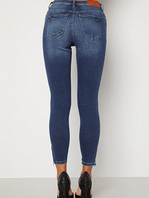 Noisy May Kimmy Ankel Dart Jeans Medium Blue Denim