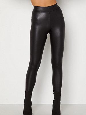 Leggings & tights - Pieces New Shiny HW Leggings Black