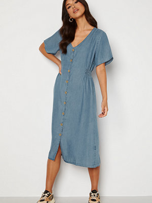 Only Nikoline Smock Denim Dress Medium Blue Denim