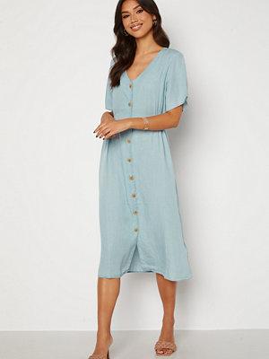 Only Nikoline Smock Denim Dress Light Blue Denim