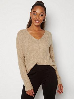 Jdy Elanora L/S V-Neck Knit Oatmeal