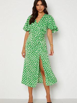 Ax Paris Heart Print Midi Dress Green