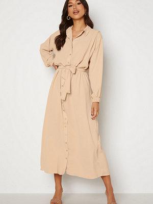 Trendyol Long Shirt Dress Beige