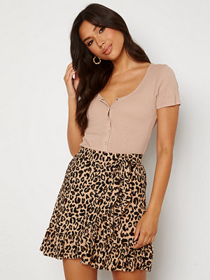 Trendyol Wrap Mini Skirt Brown