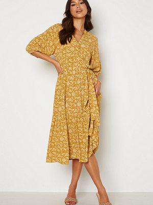 Object Collectors Item Sophia 2/4 Dress Honey Mustard AOP