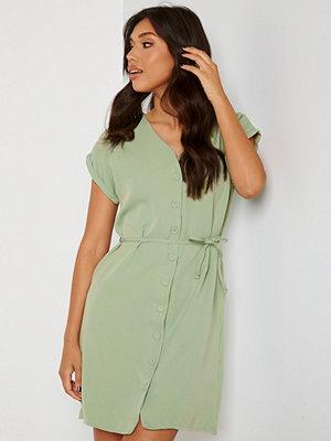 Trendyol V-Neck Button Dress Mint