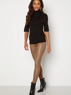 Leggings & tights - Pieces New Shiny Leggings Nature
