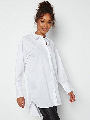 Jdy Mio L/S Long Shirt White
