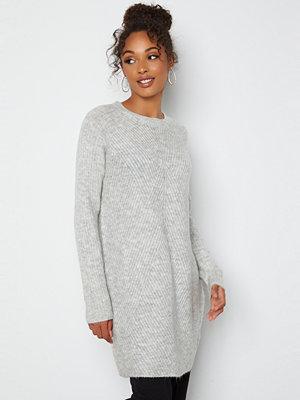 Only Carol L/S Dress Knit Light Grey Melange