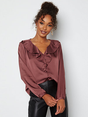 Only Sisse L/S Blouse Rose Brown