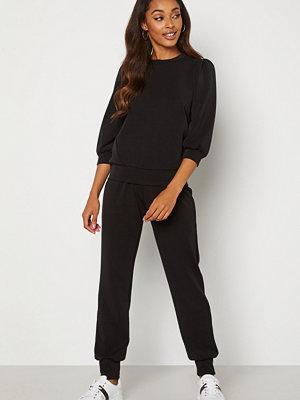 Selected Femme svarta byxor Tenny HW Sweat Pant Black