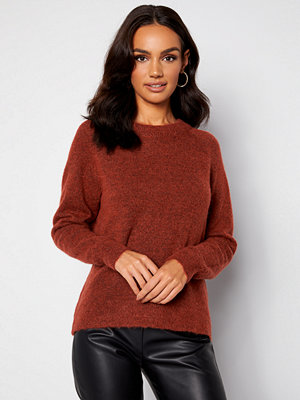 Selected Femme Lulu LS Knit O-Neck Chili Oil