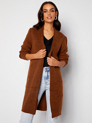 Only Jade L/S Cardigan Knit Ginger Bread