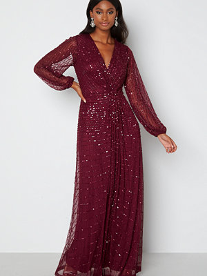 Angeleye Long Sleeve Seqiun Dress Burgundy