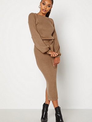 Bubbleroom Amira knitted dress Light brown