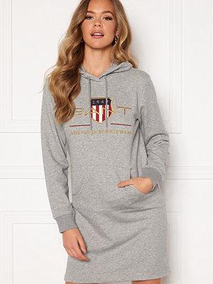 Gant Archive Shield Hoodie Dress 93 Grey Melange