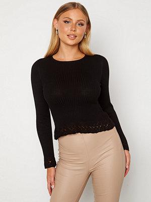 Chiara Forthi Geonna lace sweater Black