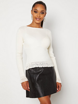 Chiara Forthi Geonna lace sweater Cream