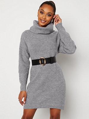 Bubbleroom Melissi knitted sweater dress Grey-blue