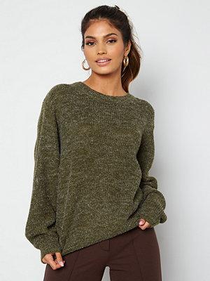 Ichi Novo LS Knit Pullover 190512 Ivy Green