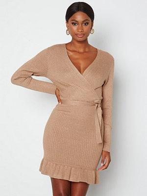 Jdy Mollie L/S Frill Dress Chanterelle
