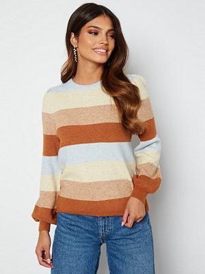 Only Katia L/S Stripe Pullover Pearl Blue Stripe Me