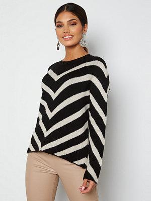 Only Leliza L/S Pullover Knit Black Pattern Cloud