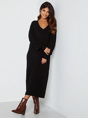 Only New Tessa L/S Midi V-Neck Dress Black