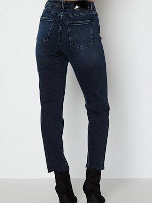 Only Emily Life HW ST Crop Ankle Jeans Blue Black Denim