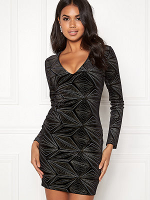 Bubbleroom Tanya sparkling dress Black / Gold