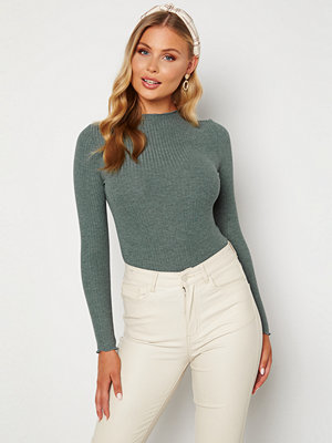 Only Emma L/S High Neck Top Balsam Green