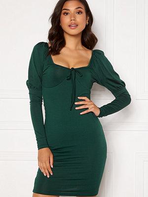 Chiara Forthi Moe puff sleeve dress Emerald green