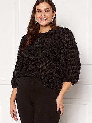 Happy Holly Chelsia furry top Black