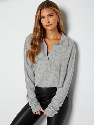 Lojsan Wallin x BUBBLEROOM Collar sweater Grey melange